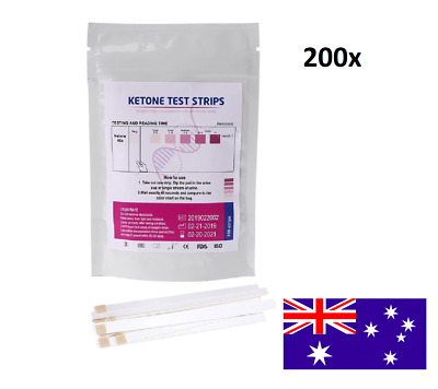 200pcs Ketone Test Strips Urine Analysis Keto Sticks Ketosis Ketostix Diet Test