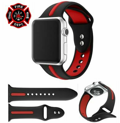 Firefighter Thin Red Line Apple Watch Replacement Band Strap 38 40mm 42mm 44mm