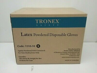 Full Case of Tronex 1510 Latex Powdered Disposable Gloves-1000 Gloves