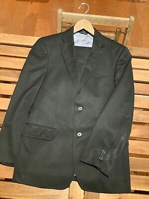 Tommy Hilfiger 2Btn Suit 36R Jacket, 30X31 Pants Black 100% Wool, 2 Piece.