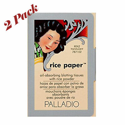 Palladio Rice Paper Tissues, Translucent 40 Sheets with Rice Powder (2 Pack)
