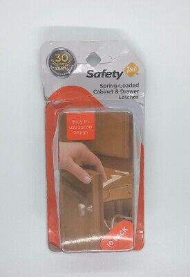 Safety 1st Spring-Loaded Cabinet & Drawer Latches - Baby Proof Cabinets
