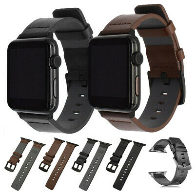 Genuine Leather Band For iWatch Apple Watch Series 5 4 3 2 44mm 42mm 38mm 40mm
