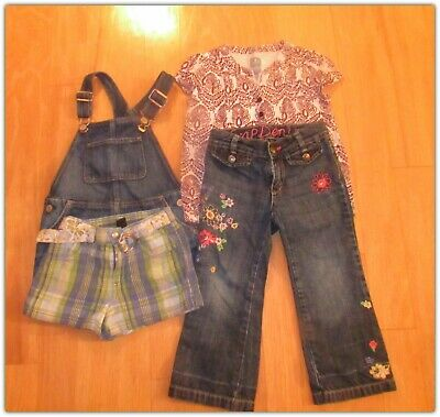 Baby Gap Girls Size 3T Outfits Spring Summer Shorts, Denim Jeans, Jumper Top