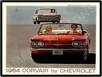 1963 Chevrolet Corvette /& Corvair New Metal Sign Sting Ray /& Corvair Monza