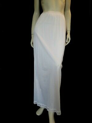 Long White Nylon Vintage Half Slip by Holeproof - Medium