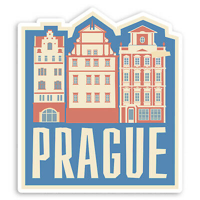 2 x Prague Czech Republic Vinyl Sticker Decal iPad Travel Luggage Tag Gift #5459