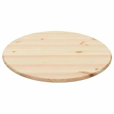 """Table Top Natural Pinewood Round 0.98"""" 35.4"""""""