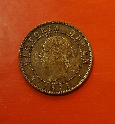 Prince Edward Island Victoria Queen One Cent 1871  Nice Condition