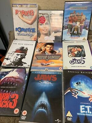 Job Lot 30 Classic Dvds Jaws Titanic Chucky Grease ET Etc