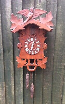 Large Antique Black Forest Cuckoo Clock ,Old Needs Attention