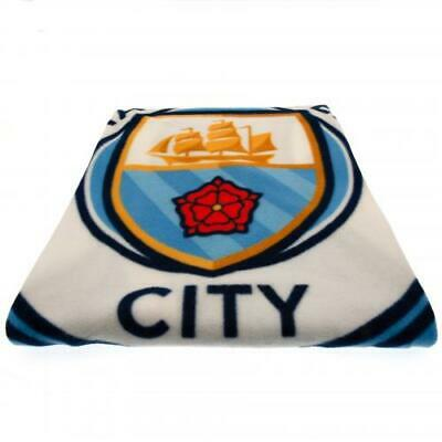 Manchester City FC Official Crested Fade Fleece Blanket Throw Gift Present