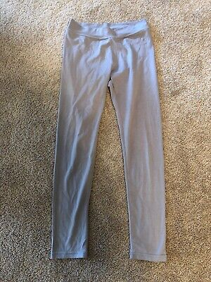 Justice Girl's Cotton Blend Solid Leggings Pants - Size 14 - Gray - EUC