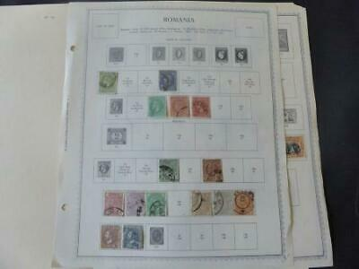 Romania 1863-1918 Stamp Collection on Album Pages