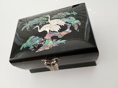 Mother Of Pearl Inlaid Arirang Musical Jewelry Box
