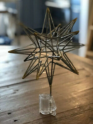 Pre Owned Hearth & Hand with Magnolia Star Christmas Tree Topper 3D 2017 RARE
