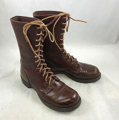 """Corcoran 1510 Jump Boots, 10"""" Leather Military Brown, Men's Size 7, Width D"""