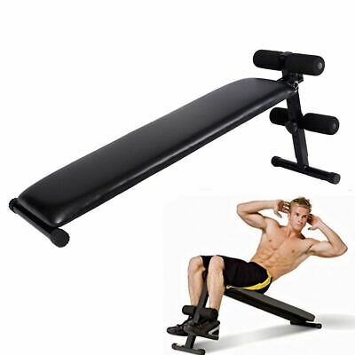 Deluxe Portable Folding Adjustable Sit Up Decline Bench Crunch Workout