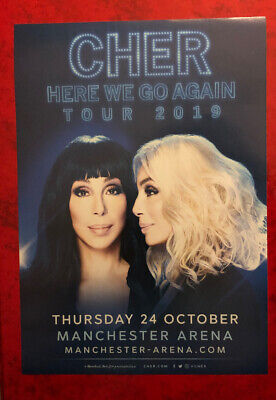 Official CHER FLYER - Here We Go Again Tour - Manchester Arena October 2019