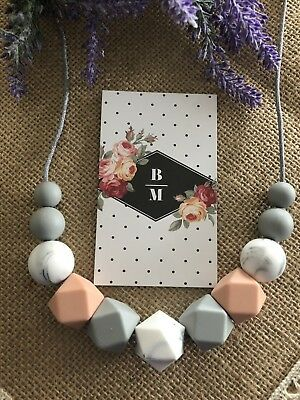 SALE Silicone Necklace for Mum Jewellery Beads Aus Gift  (was Teething) Nursing
