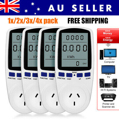 AU Plug Power Meter Energy Consumption Monitoring Watt Electricity Usage Tester