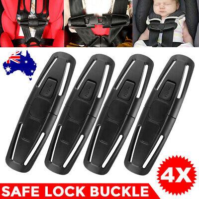 4X Baby Child Car Safety Seat Lock Buckle Strap Belt Latch Harness Chest Clip AU