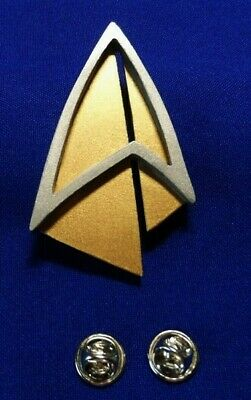 Star Trek PICARD Communicator Pin Combadge Com Badge Uniform Costume Cosplay