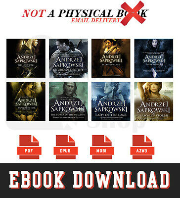 "The Witcher Book Series by Andrzej Sapkowski ""Digital Version 4 Formats"""