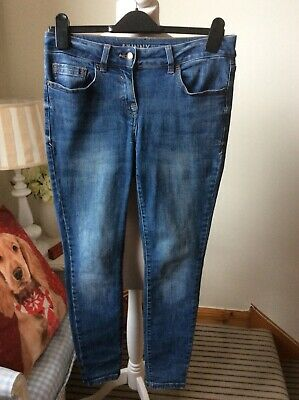 "NEXT Blue Skinny Fit Jeans Denim Size UK 10 Regular L28"" Trousers Slim"