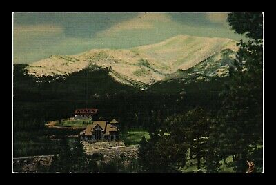 Us Postcard Linen St Malo Boys Camp And Church On The Rock Colorado