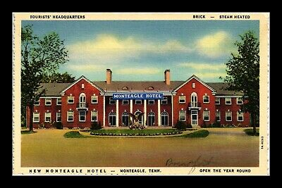 Us Postcard New Monteagle Hotel Monteagle Tennessee Linen