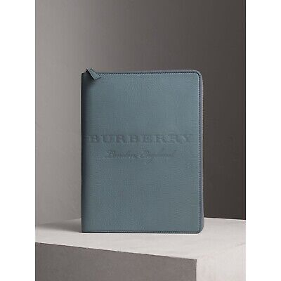 NEW Burberry Grainy leather A4 ziparound notebook with original box & refill