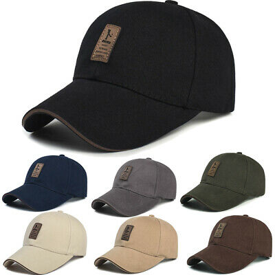 Men Plain Washed Cap Style Cotton Adjustable Baseball Cap Blank Solid Golf Hat