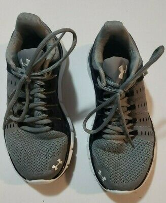 Under Armour Tennis Shoes, Youth Size 5 Kids Boys Athletic Preowned