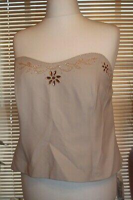 BNWT Ladies plus size Charlotte Barclay embellished boned bustiere size 26
