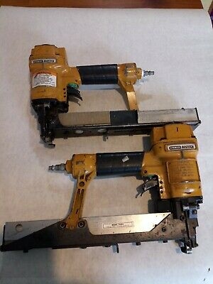 "Lot Of 2 - Bostitch T40S2 16 Ga. 1-1/2"" Max Framing Staplers For Parts Or Repair"