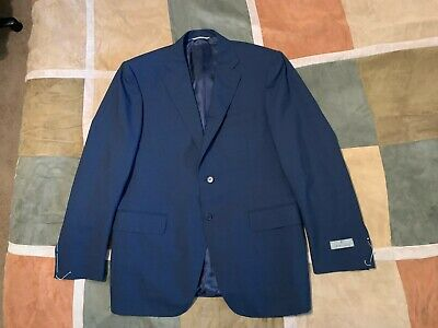 CANALI 100% wool navy suit jacket sport coat blazer 50 40 R mens NEW