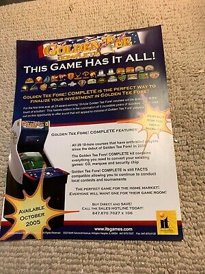 Golden Tee Complete Fore Golf ARCADE VIDEO GAME  FLYER