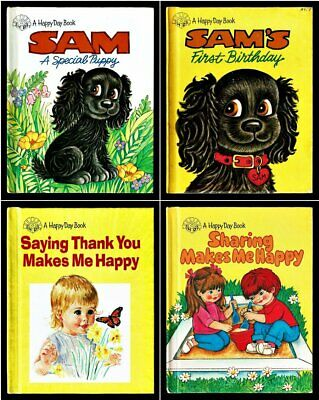 HAPPY DAY Book Lot ~ 4 Children's Hardcover Books With A Christian Theme