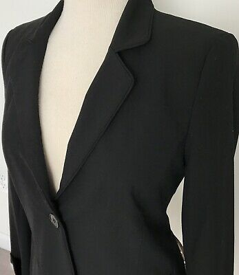 NWT A Pea In The Pod Sz S Black Career Blazer Maternity Jacket $149 Made In USA