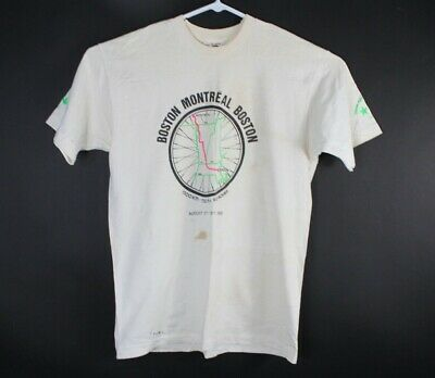Vintage Fruit of the Loom Size L Boston Montreal Cycling Biking Racing 1993