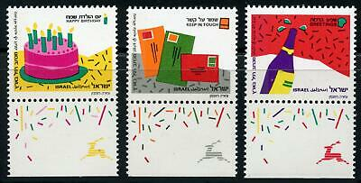 Israel: 1991 Special Occasions (1073-1075) With Tabs MNH