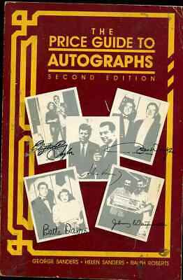 AUTOGRAPH COLLECTING PRICE GUIDE by George & Helen Sanders 2nd Edition S-6