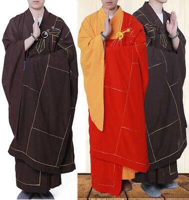High Quality Buddhist Monk Dress 25 Panels Red Kesa Haiqing Robe Meditating Suit