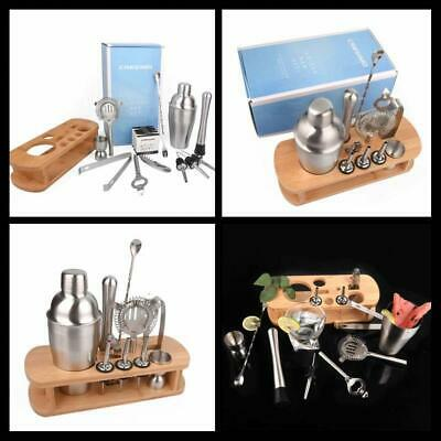 Cocktail Shaker bartender Bar Tools Set Brushed Stainless Steel 12 Piece Supply