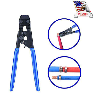 Pex KIT Crimper e Crimping Tool Pipe Tube Plumbing Cutter +35 Rings cinch clamps
