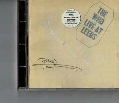 The Who Live at Leeds signed Daltrey & Townsend 25th Anniversary CD