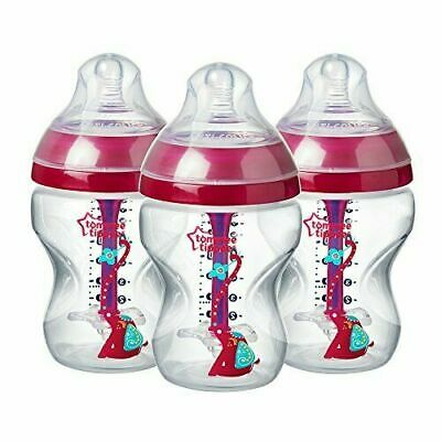Tommee Tippee Decorated Advanced Anti-Colic Bottles, 260 ml, 3 Count