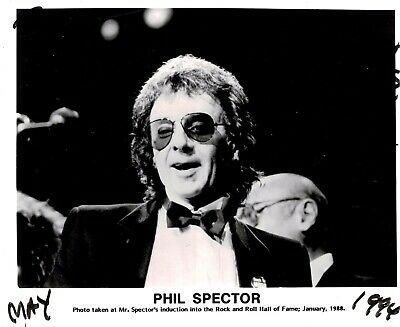 Phil Spector signed Original 10 X 8 Photograph Rock & Roll Hall of Fame