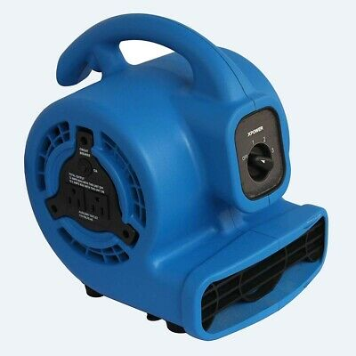 XPOWER P-80A Mini Mighty Air Mover, Floor Fan, Dryer, Utility Blower with Built-